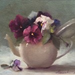 Pansies in Porcelain